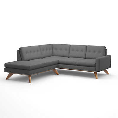 Picture of Luna Sectional Sofa with Bumper by TrueModern