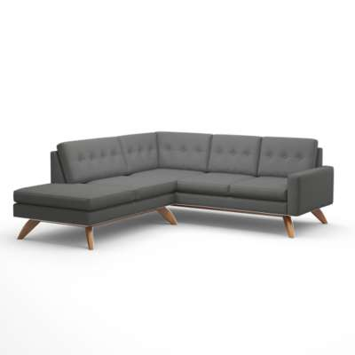 Picture for Luna Sectional Sofa with Bumper by TrueModern