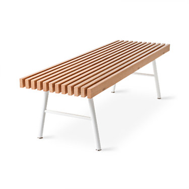 TRANSITBENCH-NATURAL ASH WHITE: Customized Item of Transit Bench by Gus Modern (TRANSITBENCH)