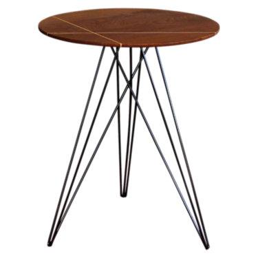 TRKHUD-MPL-NOINL-RD: Customized Item of Hudson Side Table (TRKHUD)