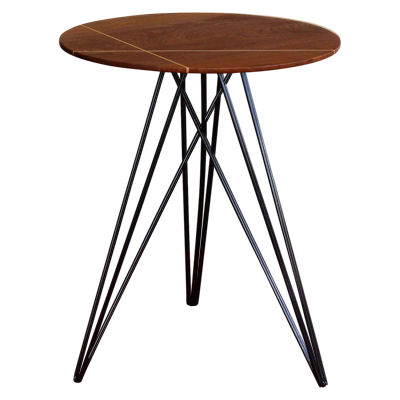 TRKHUD-MPL-NOINL-RD: Customized Item of Hudson Side Table (TRKHUD)