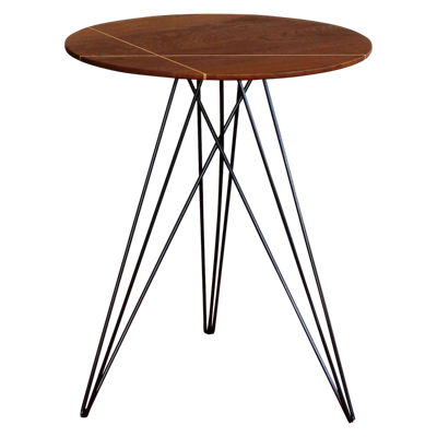 TRKHUD-WAL-NOINL-WH: Customized Item of Hudson Side Table (TRKHUD)