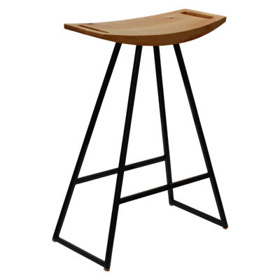 TRKROB-MPL-NOINL-RD-BAR: Customized Item of Roberts Stool (TRKROB)