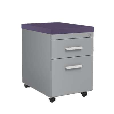 Picture for Mobile File Cabinet with Cushion Top by Steelcase