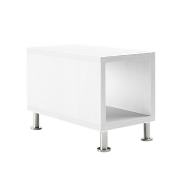 TS31415L-CLEAR WALNUT-ALUMINUM: Customized Item of Turnstone Jenny End Table by Steelcase (TS31415L)