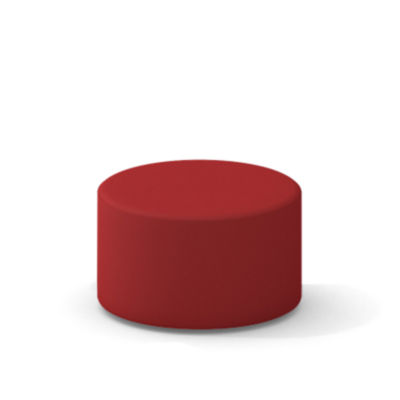 TS34401X-SCARLET: Customized Item of Turnstone Campfire Ottoman by Steelcase (TS34401X)