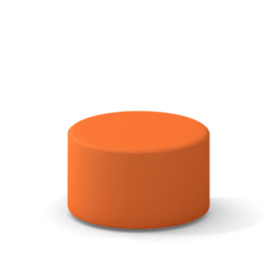TS34401X-TANGERINE: Customized Item of Turnstone Campfire Ottoman by Steelcase (TS34401X)