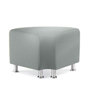 TS34402-BLU-ALUMINUM: Customized Item of Turnstone Alight Corner Ottoman by Steelcase (TS34402)