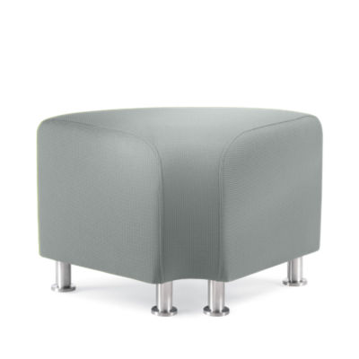 TS34402-BLACK-ALUMINUM: Customized Item of Turnstone Alight Corner Ottoman by Steelcase (TS34402)