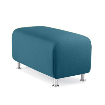 TS34403X-CYAN-ALUMINUM: Customized Item of Turnstone Alight Bench Ottoman by Steelcase (TS34403)
