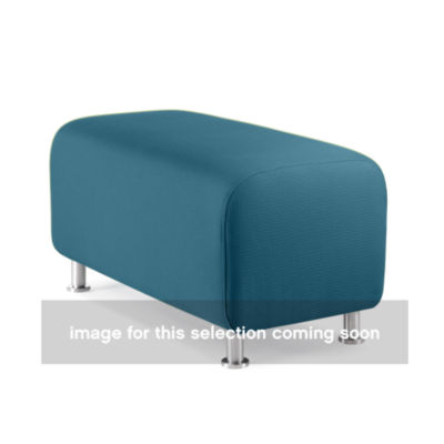 TS34403-WASABI-ALUMINUM: Customized Item of Turnstone Alight Bench Ottoman by Steelcase (TS34403)