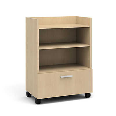 Picture of Currency Tall Mobile Cart with Lateral Drawer by Steelcase