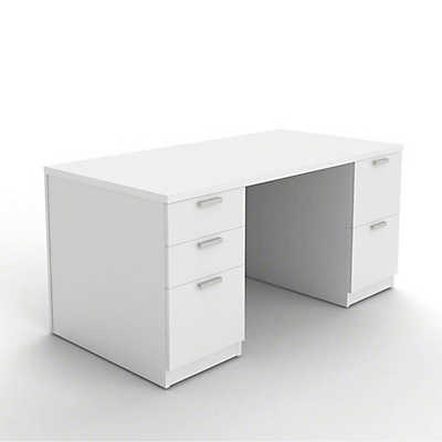 Picture of Currency Pedestal Desk with Drawers by Steelcase