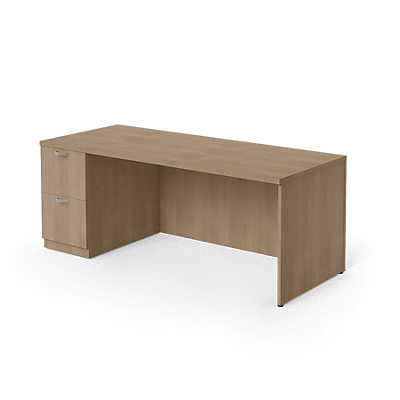 "Picture of Currency 60"" Single Pedestal Desk by Steelcase, Left Hand"