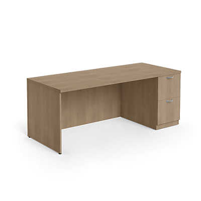 "Picture of Currency 60"" Single Pedestal Desk by Steelcase, Right Hand"