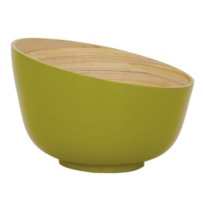 Picture of Slope Laquered Bamboo Bowl, Green