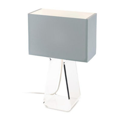 TUBETOPCLASSICT-21-SILVER-CLEAR: Customized Item of Tube Top Classic Table Lamp (TUBETOPCLASSICT)