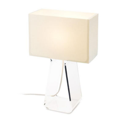 TUBETOPCLASSICT-14-WHITE-CLEAR: Customized Item of Tube Top Classic Table Lamp (TUBETOPCLASSICT)