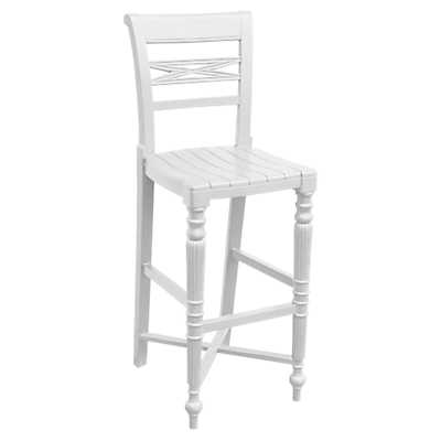 Picture of Raffles Wooden Seat Bar Stool