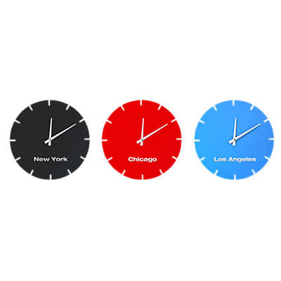 Picture of USA Clocks, Set of 3 by Scale 1:1