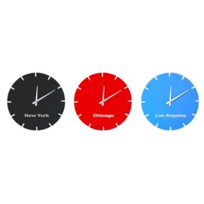 Picture for Bolla USA Clocks, Set of 3 by Scale 1:1