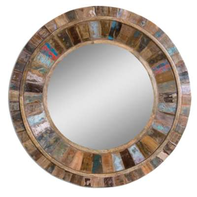 Picture for Jeremiah Round Wood Mirror