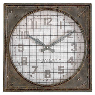 Picture of Warehouse Wall Clock With Grill