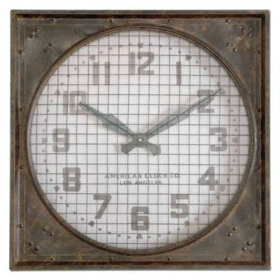 Picture for Warehouse Wall Clock With Grill