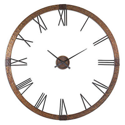 "Picture of Amarion 60"" Copper Wall Clock"