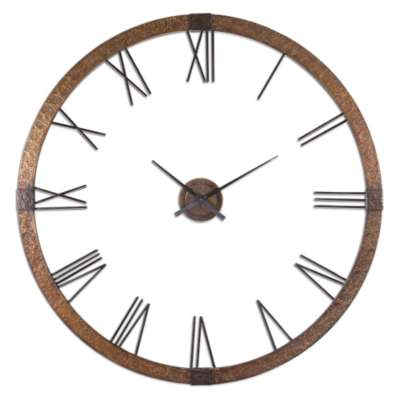 "Picture for Amarion 60"" Copper Wall Clock by Uttermost"