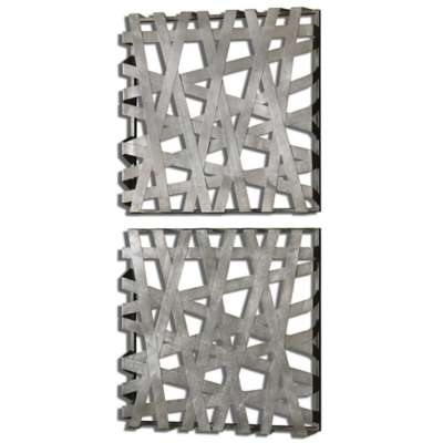 Picture for Alita Squares Wall Decor, Set of 2 by Uttermost