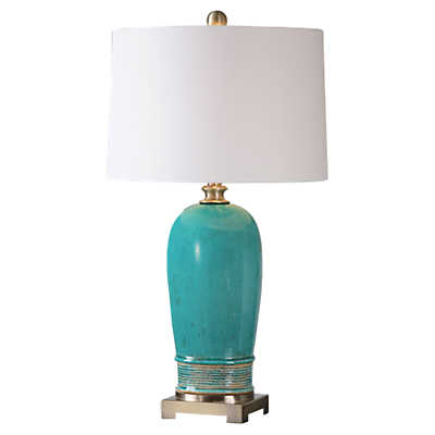 Picture of Albertus Crackle Blue Table Lamp