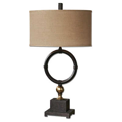 Picture of Pueblo Black Circle Table Lamp