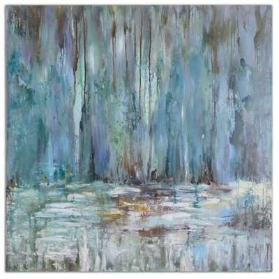 Picture for Blue Waterfall Wall Art by Uttermost