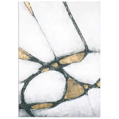 Picture for Abstract in Gold and Black Wall Art by Uttermost