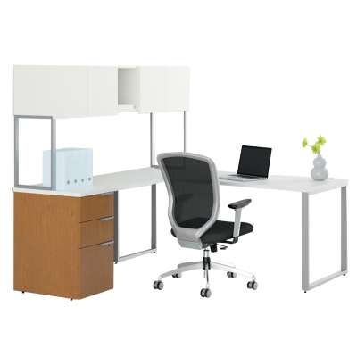 Picture for Voi L-Shaped Desk with Upper Storage by HON