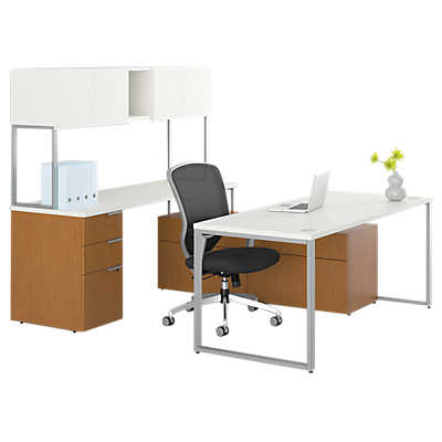 Picture of Voi U-Shaped Workstation with Low Credenza by Hon