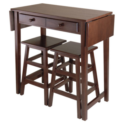 Picture of Mercury Double Drop Leaf Table with 2 Stools