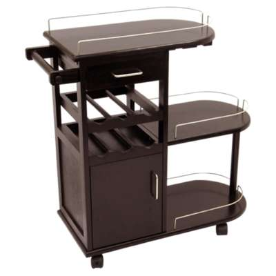 Picture for Entertainment Cart with Glass Rack