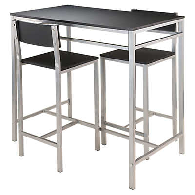 Andre 3 Piece High Table With 2 High Back Stools