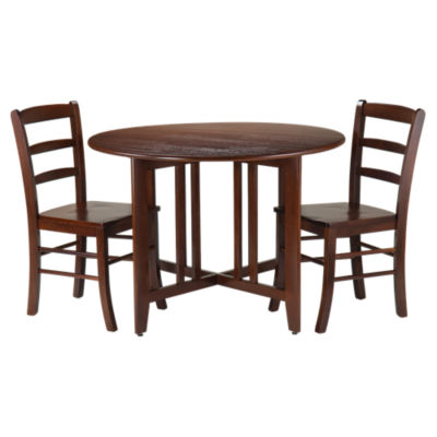 Picture of Sanchez Drop Leaf Table with 2 Ladder Back Chairs
