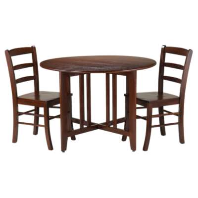 Picture for Sanchez Drop Leaf Table with 2 Ladder Back Chairs