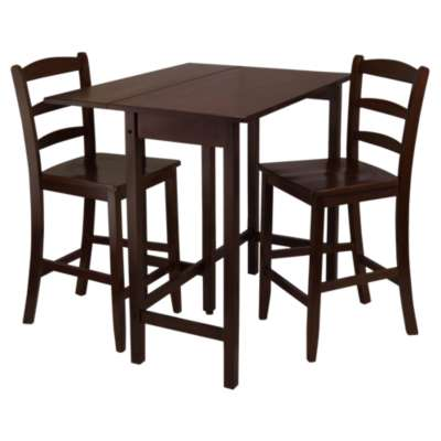Picture for Wyatt 3-Piece Drop Leaf High Table with 2 Counter Ladder Back Stools