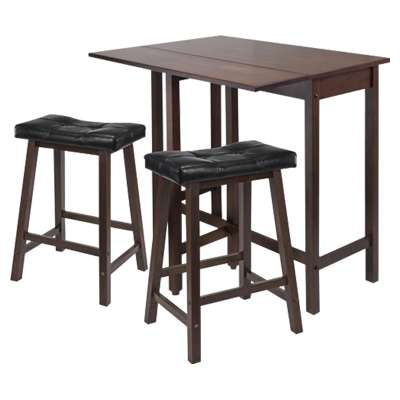 Picture for Wyatt 3-Piece Drop Leaf Kitchen Table with 2 Cushion Saddle Seat Stools