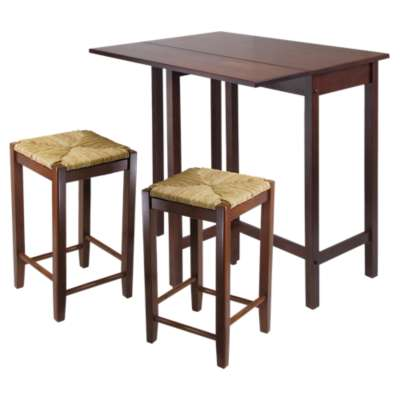 Picture for Wyatt 3-Piece Drop Leaf Table with Rush Seat Stool