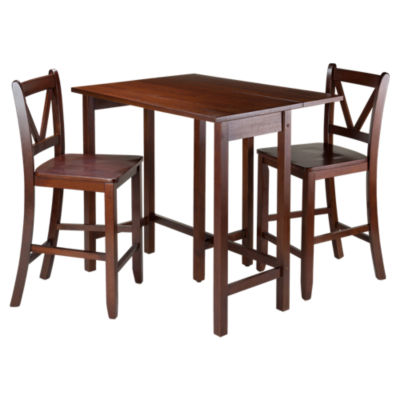 Picture of Wyatt 3-Piece Drop Leaf Table with 2 Counter V-Back Stools