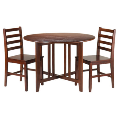 Picture of Sanchez Drop Leaf Table with 2 Hamilton Ladder Back Chairs