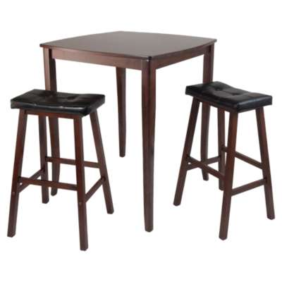 Picture for Hendricks 3-Piece High Table Set with Cushioned Saddle Stools