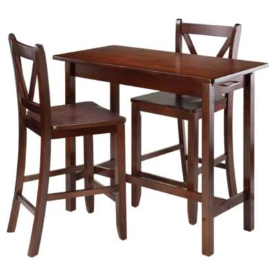 Picture for Johan 3-Piece Kitchen Island Table with 2 V-Back Stool