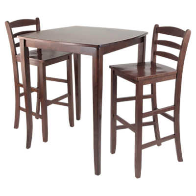 Picture of Hendricks 3-Piece High Table Set with Ladder Back Stools